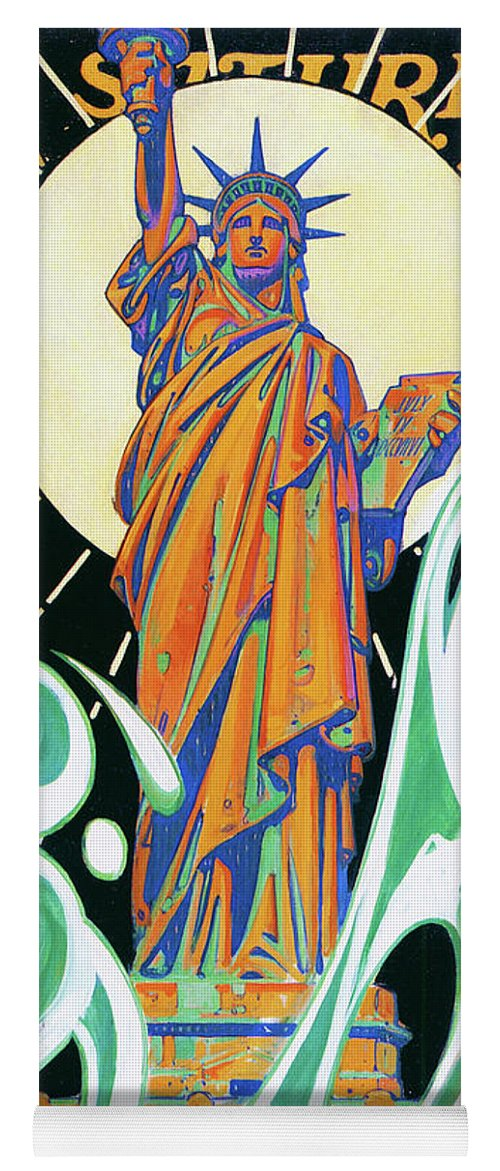Joseph Christian Leyendecker Yoga Mat featuring the painting Statue Of Liberty - Digital Remastered Edition by Joseph Christian Leyendecker