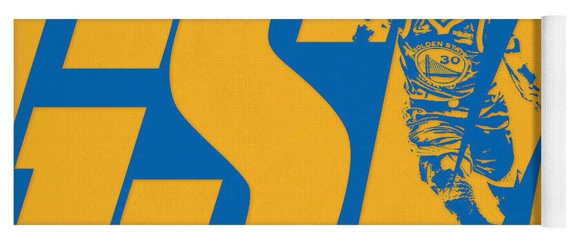 Stephen Curry Yoga Mat featuring the photograph Stepen Curry Golden State Warriors City Art by Joe Hamilton