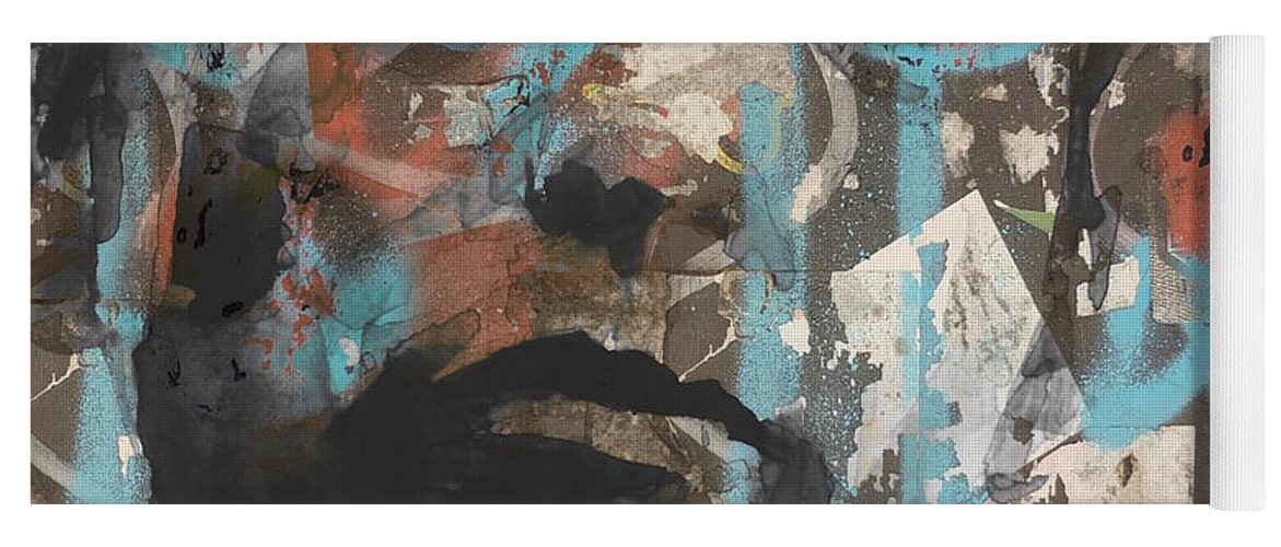 American Yoga Mat featuring the mixed media Bob Dylan - Subterranean Homesick Blues by Paul Lovering