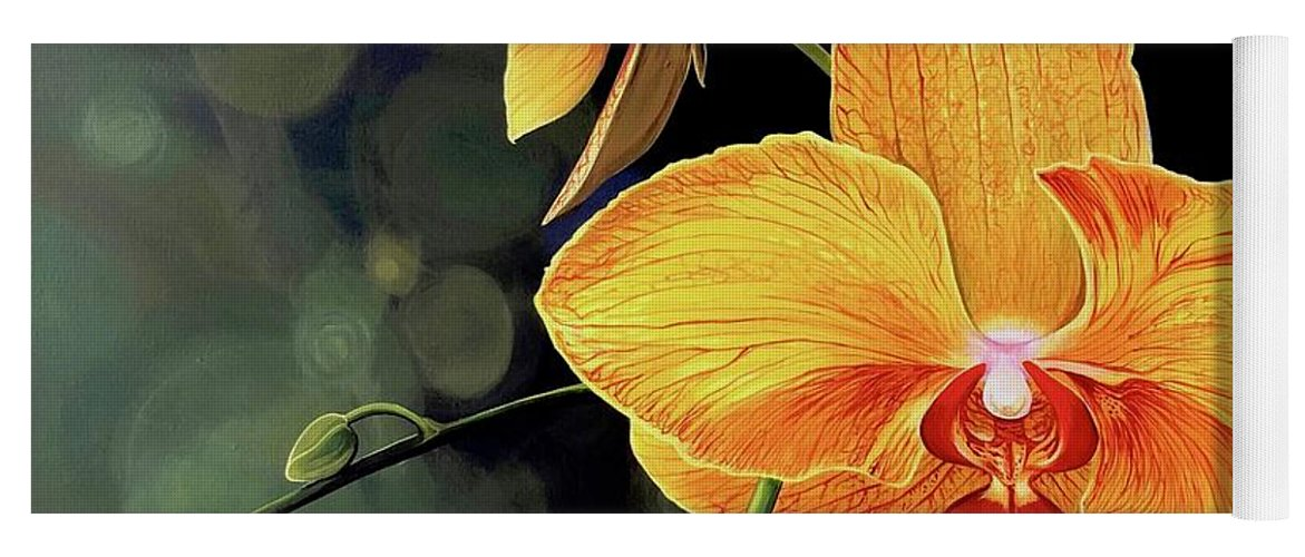 Floral Yoga Mat featuring the painting Summer Night by Hunter Jay
