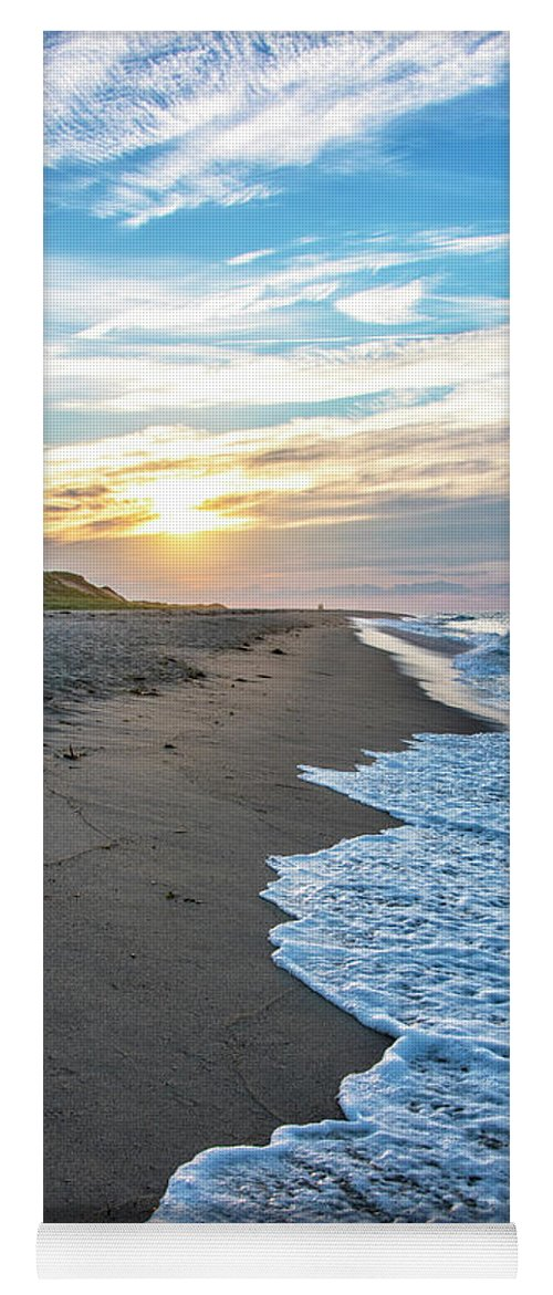 Cape Cod Sunset Yoga Mat featuring the photograph Sunset At Cape Cod National Seashore - Massachusetts by Brendan Reals