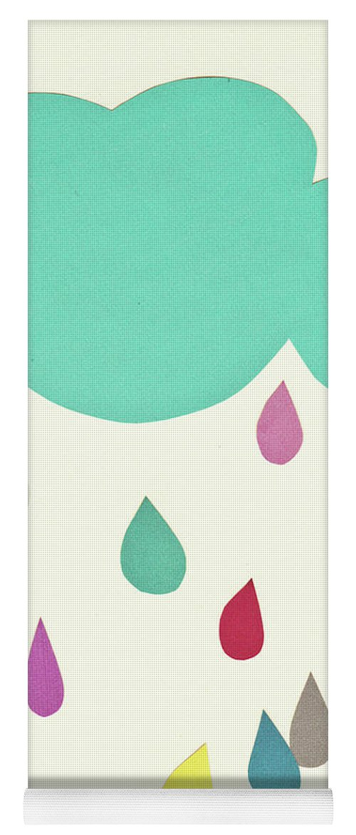 Clouds Yoga Mat featuring the mixed media Sunshine and Showers by Cassia Beck