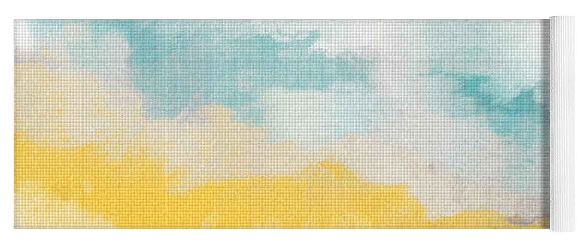 Landscape Yoga Mat featuring the mixed media Sunshine Day- Art by Linda Woods by Linda Woods