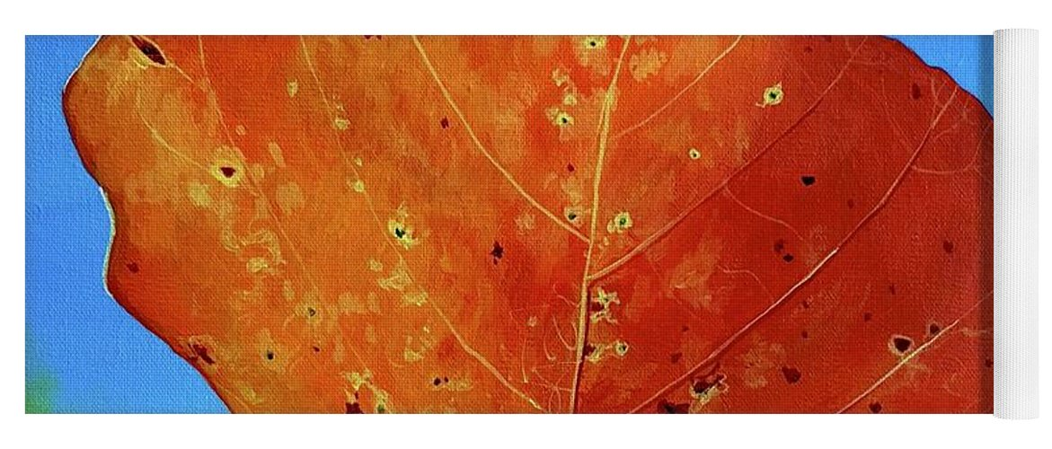 Autumn Yoga Mat featuring the painting Surrender by Hunter Jay