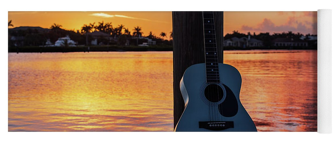 Music Yoga Mat featuring the photograph Tequila Sunrise by Laura Fasulo
