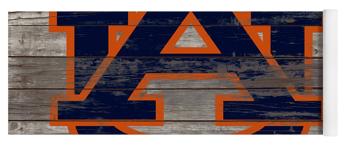 Auburn Tigers Yoga Mat featuring the mixed media The Auburn Tigers 5a by Brian Reaves