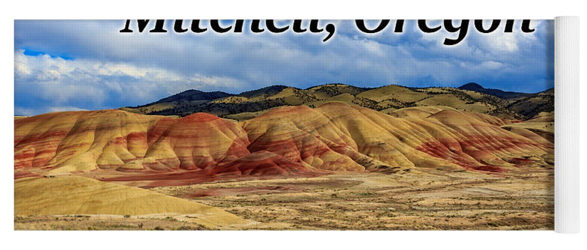 Painted Hills Yoga Mat featuring the photograph The Painted Hills Mitchell Oregon 02 by G Matthew Laughton