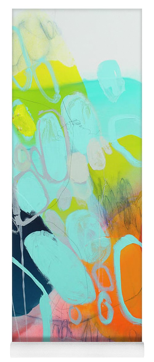 Abstract Yoga Mat featuring the painting The Right Thing by Claire Desjardins