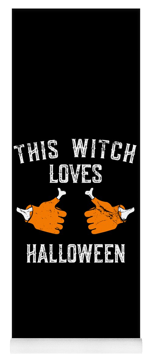 Cool Yoga Mat featuring the digital art This Witch Loves Halloween by Flippin Sweet Gear