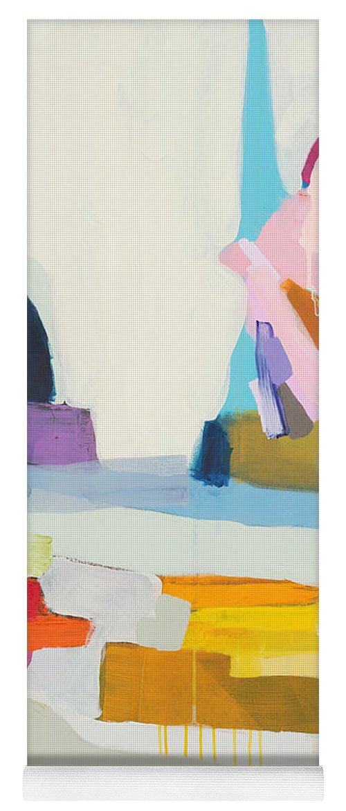Abstract Yoga Mat featuring the painting Towards The Ocean by Claire Desjardins