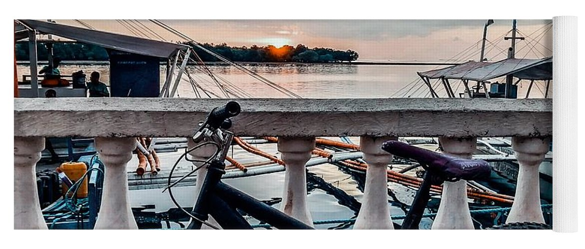 Bike Yoga Mat featuring the photograph Traveller's point by Dynz Abejero