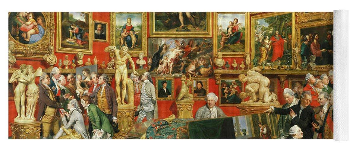 Johan Zoffany Yoga Mat featuring the painting Tribuna Of The Uffizi, 1777 by Johan Zoffany