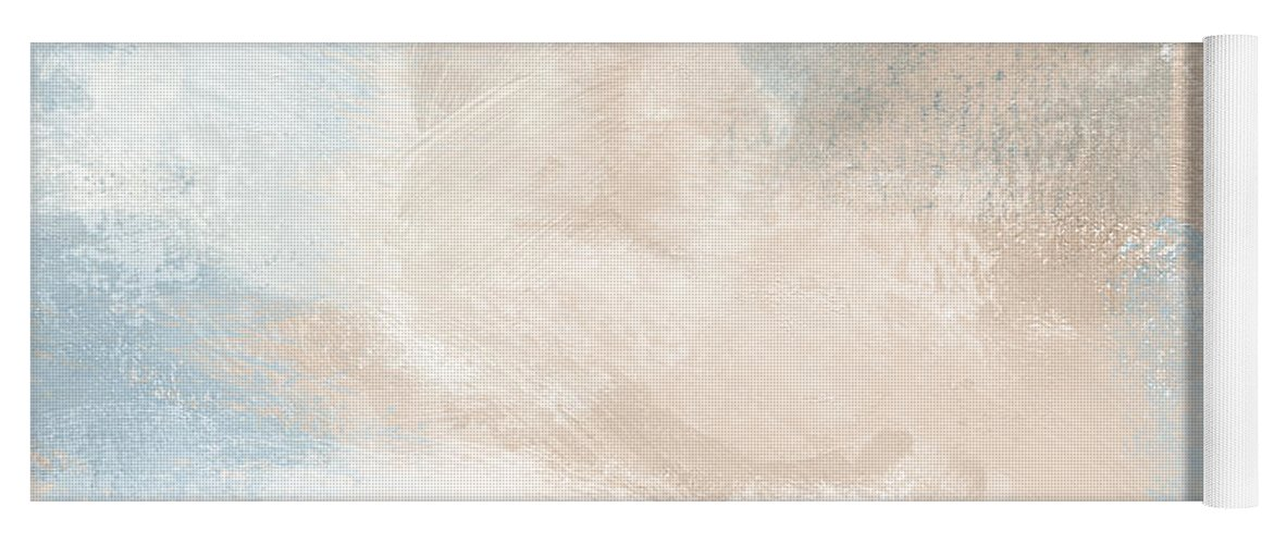 Abstract Yoga Mat featuring the painting Twilight Blue 2- Art By Linda Woods by Linda Woods