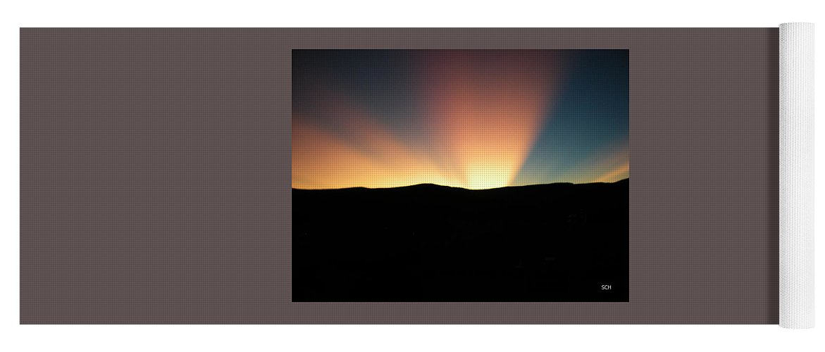 Summer Yoga Mat featuring the photograph Unaltered New Mexico Sunrise by Scott Haley