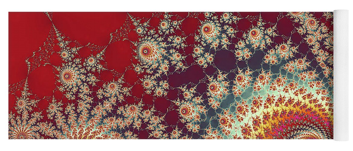 Art Yoga Mat featuring the digital art Unity by Ester McGuire