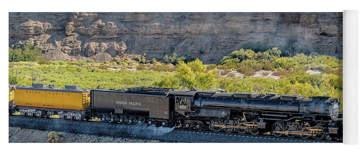 Afton Canyon Yoga Mat featuring the photograph Up4014 Big Boy 1 by Jim Thompson