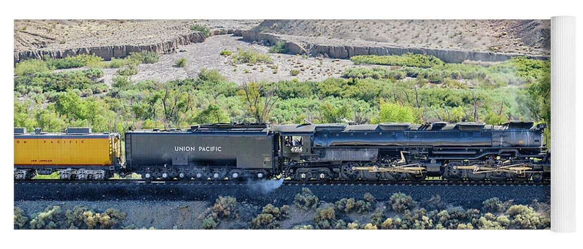 Afton Canyon Yoga Mat featuring the photograph Up4014 Big Boy by Jim Thompson