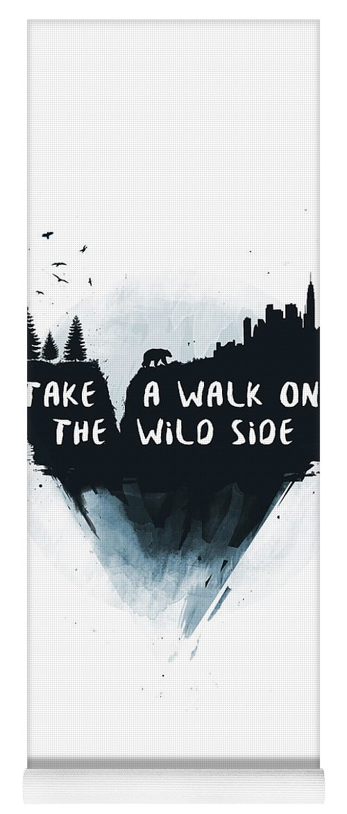 Bear Yoga Mat featuring the mixed media Walk On The Wild Side by Balazs Solti