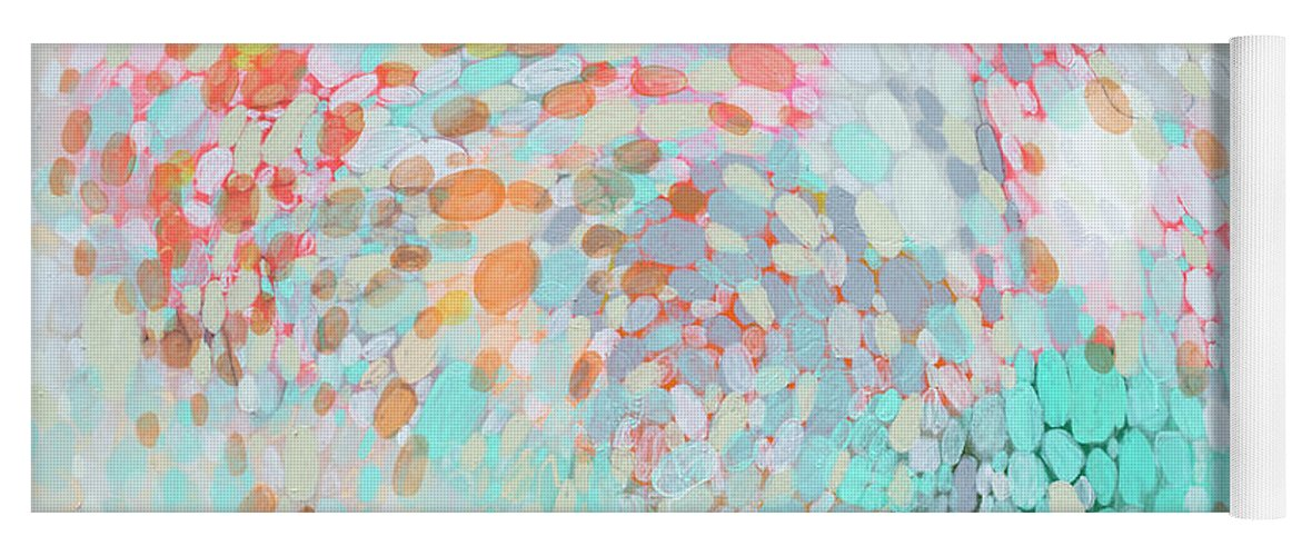 Abstract Yoga Mat featuring the painting Want To Go by Claire Desjardins
