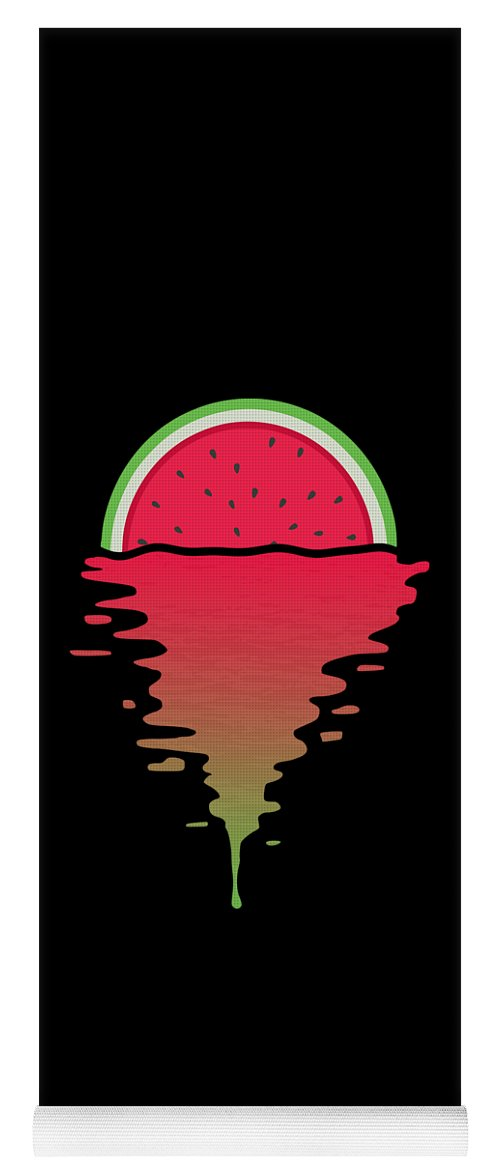 Watermelon Yoga Mat featuring the digital art Watermelon Sunset by Filip Schpindel