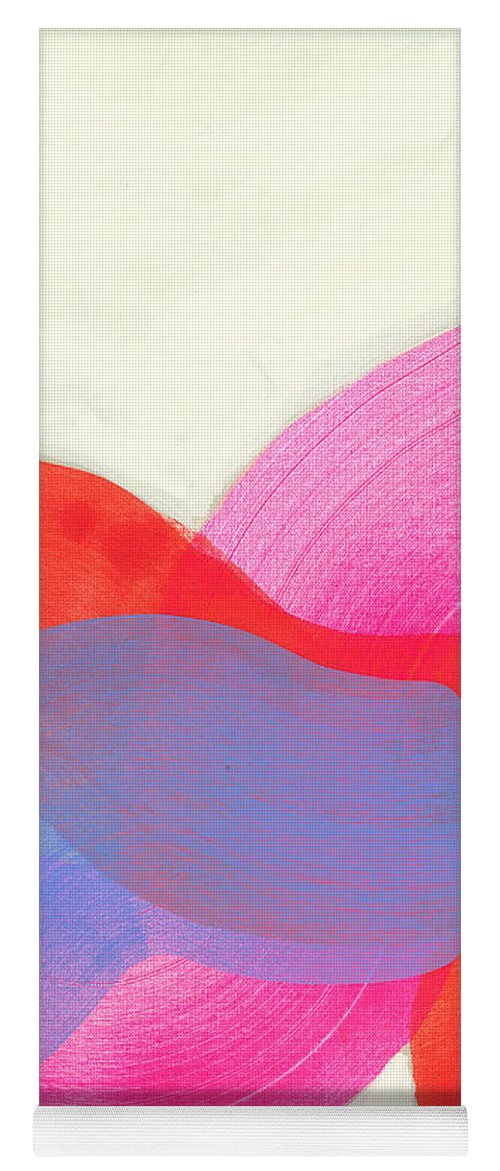 Abstract Yoga Mat featuring the painting What To Say? by Claire Desjardins