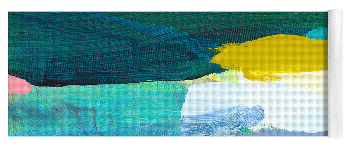 Abstract Yoga Mat featuring the painting When Winter Melts Away by Claire Desjardins
