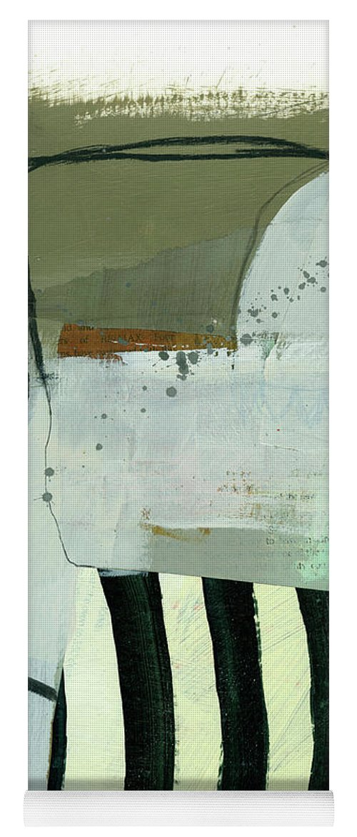 Abstract Art Yoga Mat featuring the painting Wired #13 by Jane Davies