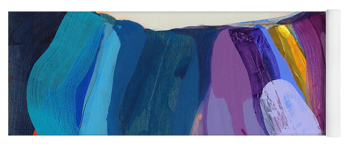 Abstract Yoga Mat featuring the painting With Joy by Claire Desjardins