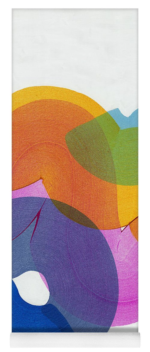 Abstract Yoga Mat featuring the painting With Love by Claire Desjardins
