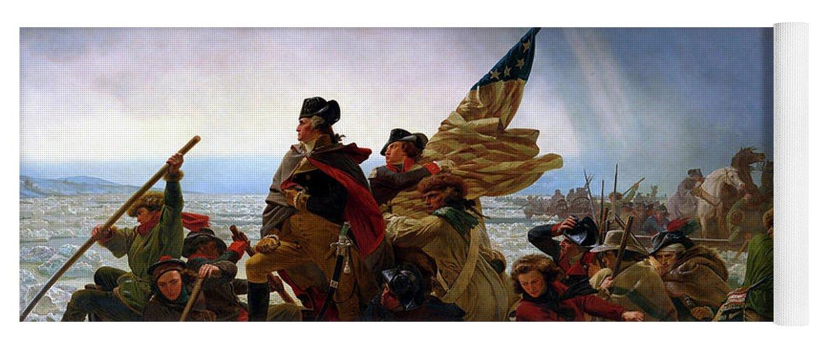 George Washington Yoga Mat featuring the painting Washington Crossing the Delaware by Emanuel Leutze