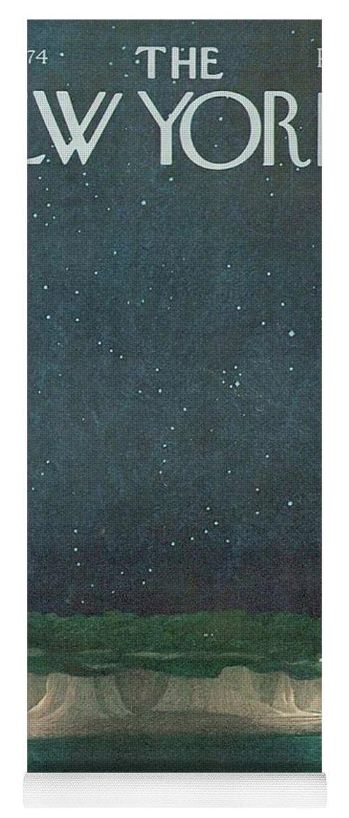 The New Yorker Magazine Cover Yoga Mat featuring the digital art The New Yorker Magazine Cover by Brahaman Dhumsi