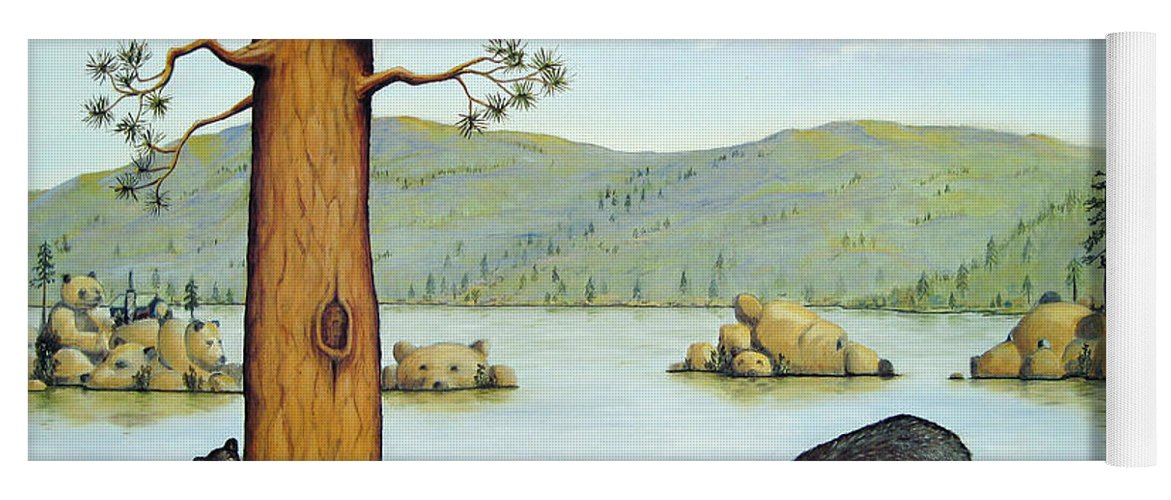 Bears Yoga Mat featuring the painting 27 Bears by Jerome Stumphauzer