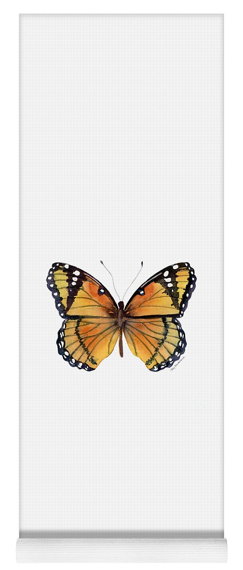 Viceroy Yoga Mat featuring the painting 76 Viceroy Butterfly by Amy Kirkpatrick