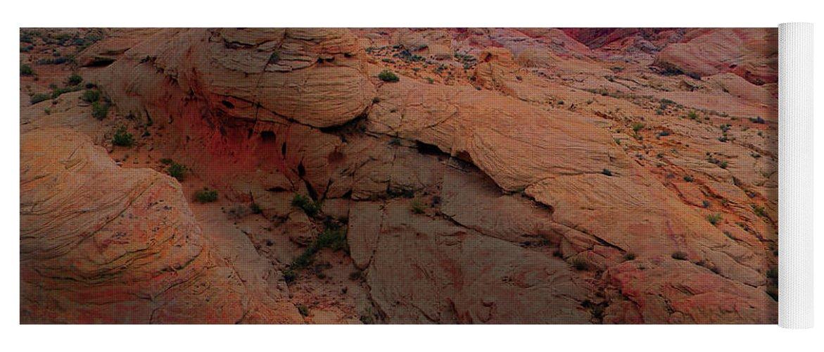 Alien Landscape Yoga Mat featuring the photograph Alien Landscape by Frank Wilson