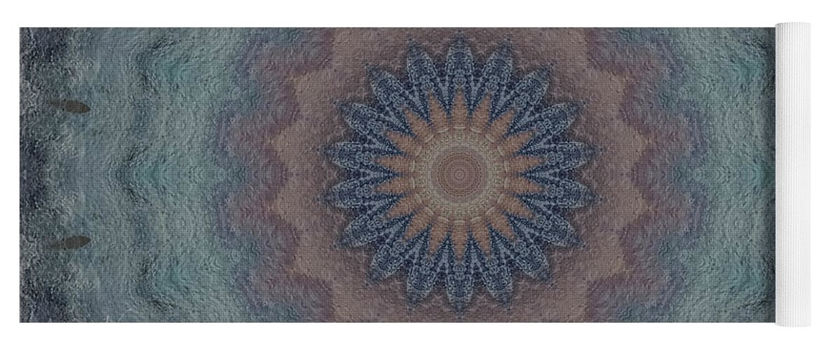 #watercolorpaintings By Felipe Adan Lerma Yoga Mat featuring the digital art Awash in Dreams Digital Mandela by Felipe Adan Lerma
