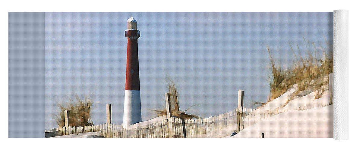 Barnegat Yoga Mat featuring the photograph Barnegat Lighthouse by Steve Karol