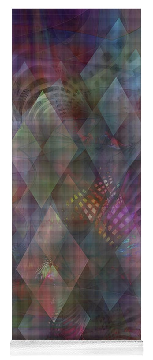 Bedazzled Yoga Mat featuring the digital art Bedazzled by Studio B Prints