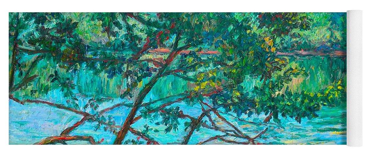Landscape Yoga Mat featuring the painting Bisset Park by Kendall Kessler