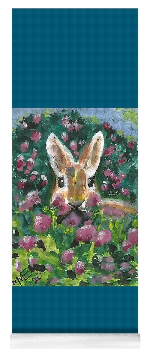 Bunny Painting Yoga Mat featuring the painting Bunny by Monica Resinger