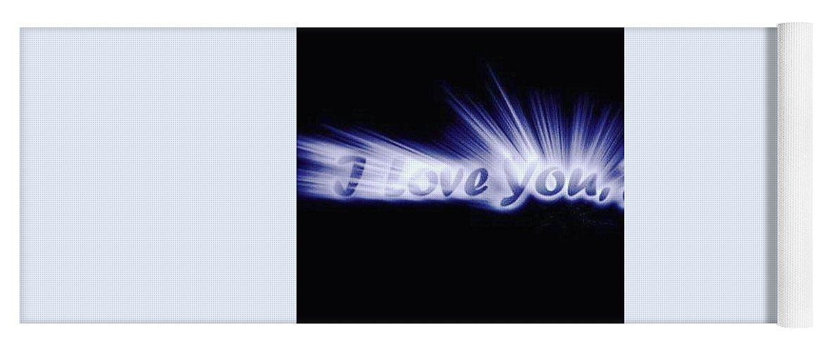 Love Yoga Mat featuring the digital art Burst Of Love by Ariana Torralba