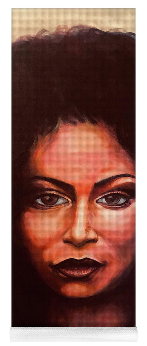 Chaka: Original 24x36in. Oil On Canvas Panel By Lloyd Deberry Yoga Mat featuring the painting Chaka by Lloyd DeBerry