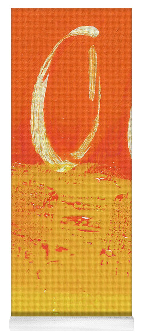 Abstract Yoga Mat featuring the painting Desert Sun by Linda Woods