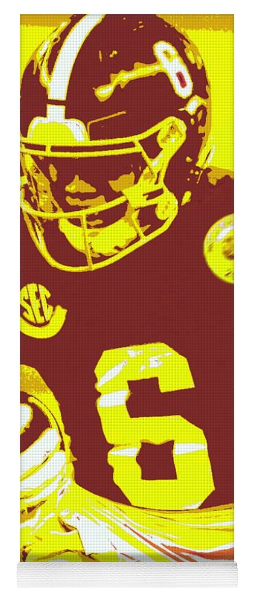 Devonta Smith Yoga Mat featuring the painting DeVonta Smith by Jack Bunds
