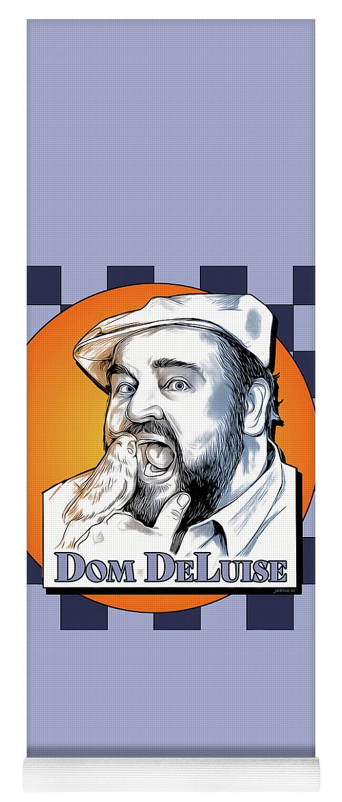 Dom Deluise Yoga Mat featuring the digital art Dom and the Bird by Greg Joens