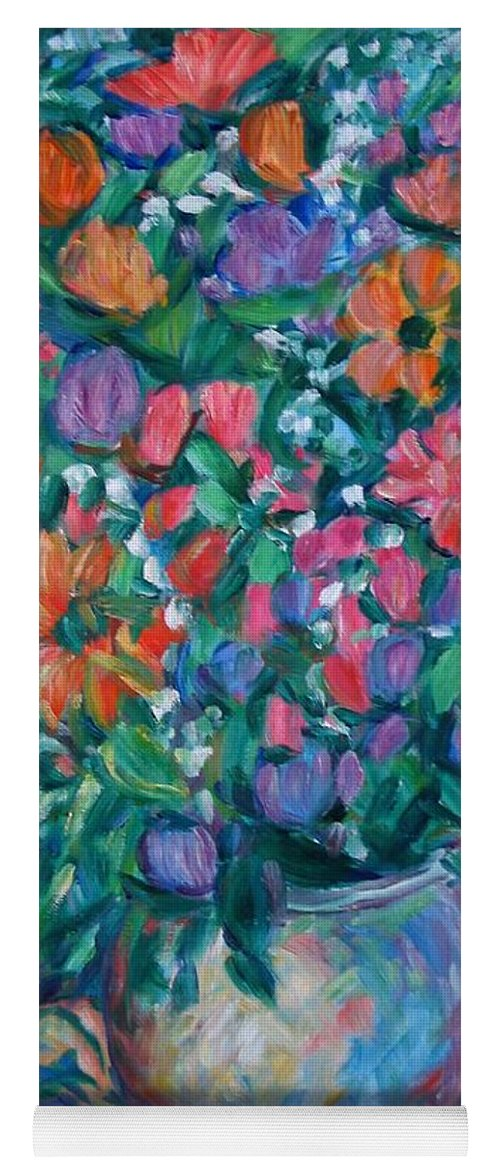 Floral Paintings Yoga Mat featuring the painting Dream Bouquet by Kendall Kessler
