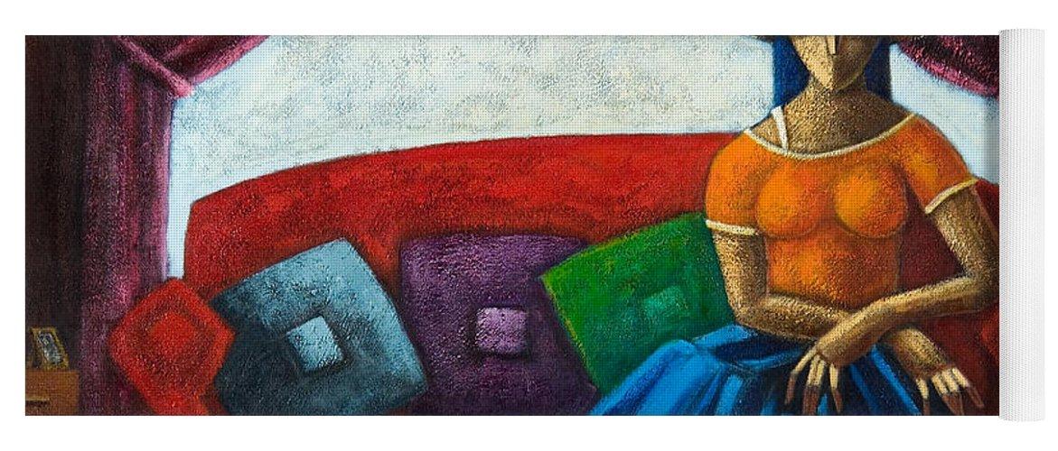 Puerto Rico Yoga Mat featuring the painting El Ultimo Romance Del Verano by Oscar Ortiz