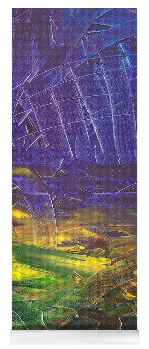 Painting Yoga Mat featuring the painting Forest. Part2 by Sergey Bezhinets