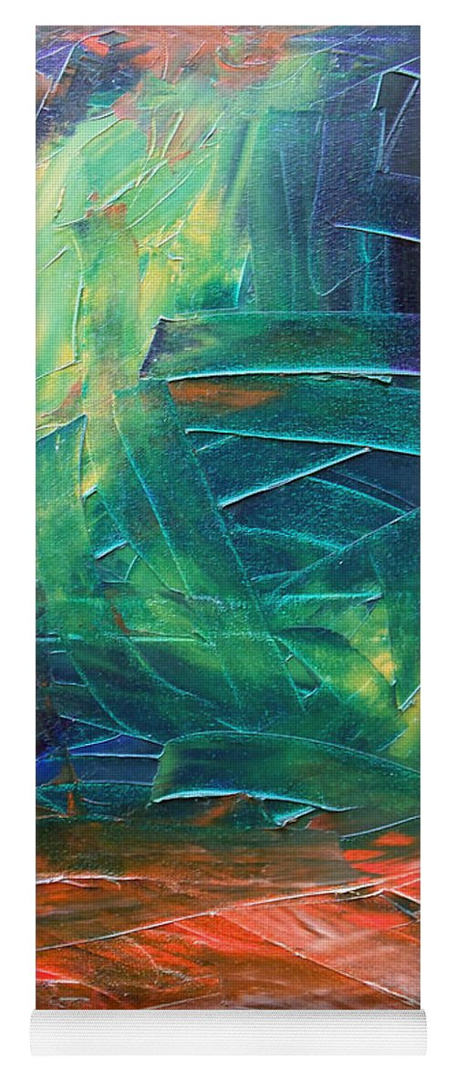 Painting Yoga Mat featuring the painting Forest.Part3 by Sergey Bezhinets
