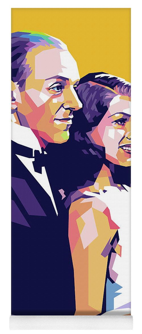 Fred Yoga Mat featuring the digital art Fred Astaire And Rita Hayworth by Stars on Art