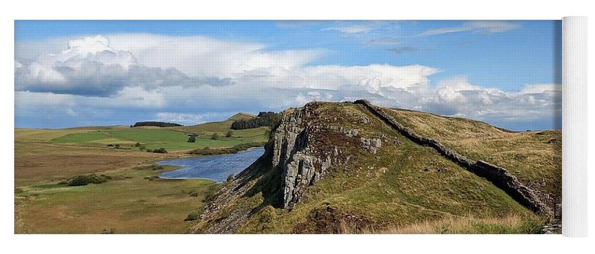 Landscape Yoga Mat featuring the photograph Hadrianswall by Pop